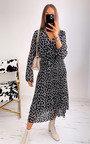 Allysha Geometric Print Pleated Maxi Dress Thumbnail