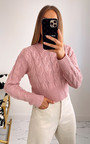 Alora Cable Knit Cropped Jumper Thumbnail