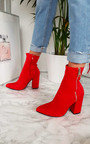 Alyiah Lycra Heeled Ankle Boots Thumbnail