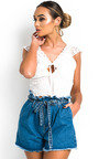 Alyssa Crochet Lace Up Top Thumbnail
