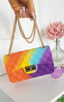 Alyx Rainbow Quilted Cross Body Bag Thumbnail