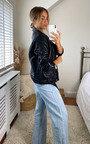 Ama Zip Up Faux Leather Jacket Thumbnail