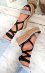 Amalia Diamante Cork Strappy Wedge Sandals Thumbnail