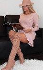 Amanda Peplum Knit Dress Thumbnail