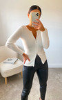 Amanza Knitted Zipped Front Top Thumbnail