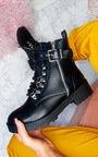 Amber Buckle Biker Boots Thumbnail