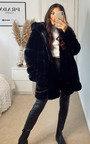 Amber Longline Faux Fur Hooded Jacket Thumbnail