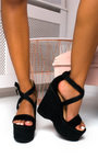 Amelia Raffia Strappy Wedges Thumbnail