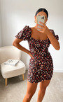 Amy Floral Bodycon Dress Thumbnail