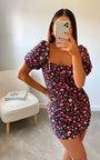Amy Floral Bodycon Dress Thumbnail