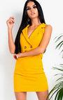 Anah Button Bodycon Dress Thumbnail