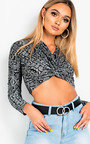 Analise Wrap Front Crop Top Thumbnail