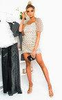 Anastasia Sheer Polka Dot Mini Dress Thumbnail