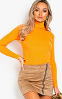 Andi Zip Up Faux Suede Skirt  Thumbnail