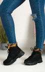 Angelina Faux Fur Lace Up Desert Boots Thumbnail