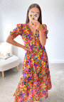 Angelina Floral Midi Dress Thumbnail