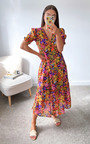 Angelina Floral Midi Dress Thumbnail