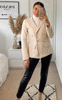 Anna Structured Blazer with Button Detail Thumbnail