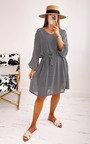 Anna Tie Waist Printed Dress in Plus Size Thumbnail