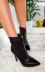 Annabelle Faux Leather Pointed Boots Thumbnail