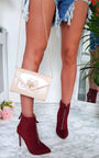 Annabelle Faux Suede Pointed Boots Thumbnail