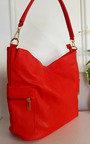 Anne Faux Leather Shoulder Bag with Side Pocket Zip Detail Thumbnail