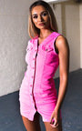 Antonia Button Up Denim Dress Thumbnail
