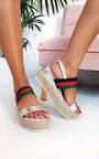Antonia Stripe Espadrille Wedge Sandal Thumbnail