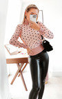 Anya Polka Dot Sheer Jumper Thumbnail