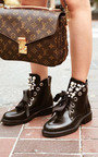 Aoife Embellished Biker Boots Thumbnail