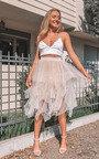 April Layered Net Midi Skirt Thumbnail