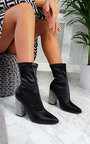 Ari Diamante Embellished Heeled Boots Thumbnail