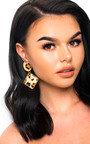 Ari Leopard Print Drop Earrings  Thumbnail