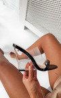 Ari Perspex Wedge Mule Heels Thumbnail