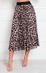 Aria Pleated Animal Print Midi Skirt Thumbnail