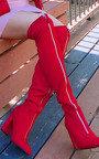 Aria Zip Up Knee High Boots Thumbnail