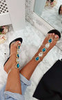 Ariana Embellished Perspex Heels Thumbnail