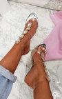 Ariana Embellished Perspex Heels Thumbnail