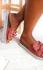 Arianna Bow Woven Flatform Sandals Thumbnail