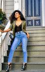 Asha Elasticated Waist Skinny Jeans  Thumbnail