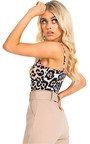 Asha Leopard Print Bodysuit Thumbnail