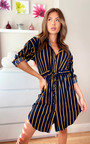 Asha Striped Shirt Dress Thumbnail
