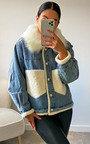 Asher Denim Faux Fur Jacket Thumbnail