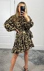 Ashi Leopard Frill Dress Thumbnail