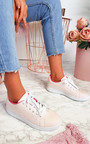 Ashley Faux Leather Trainers  Thumbnail