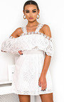 Aster Cold Shoulder Crochet Dress Thumbnail