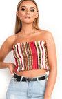 Astrid Bandeau Striped Crop Top Thumbnail