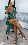 Athena Floral Chiffon Wrap Dress Thumbnail