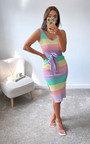 Athens Knitted Bodycon Midi Dress Thumbnail