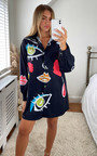 Auri Oversized Printed Shirt Dress Thumbnail